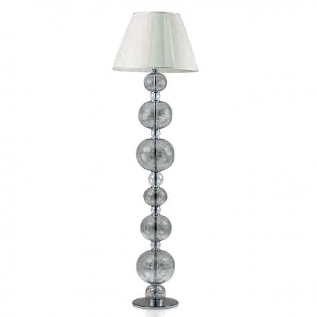 """Soffice"" Murano glass floor lamp - 1 light - mat platinum"