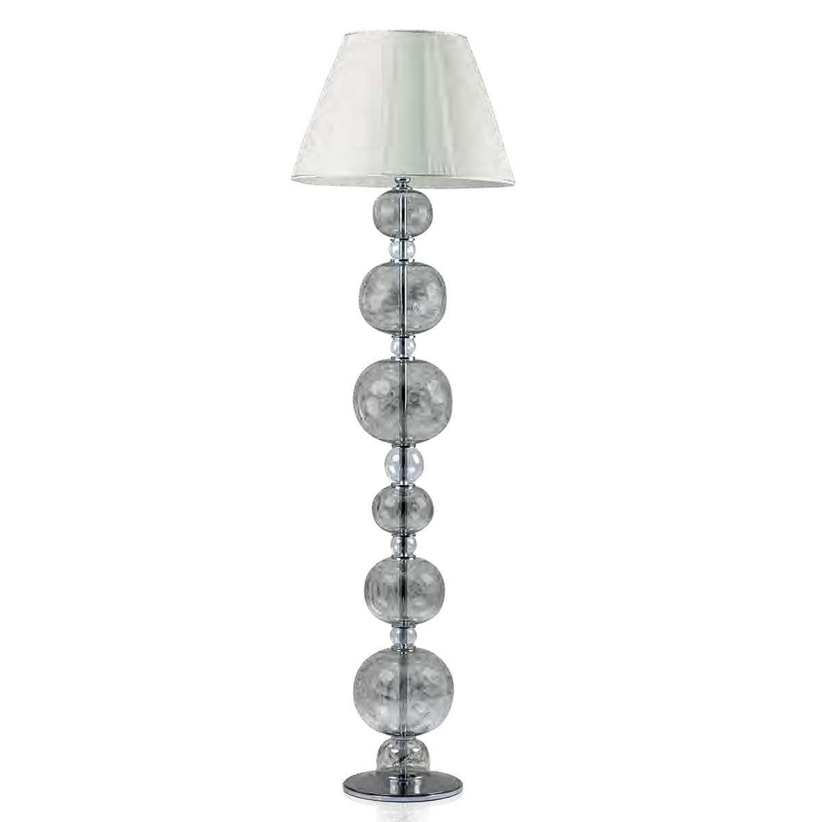 """Soffice"" Murano glass floor lamp - 1 light - mat platinum"