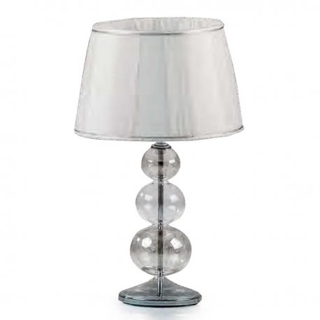 """Soffice"" Murano glass table lamp - 1 light - mat platinum"