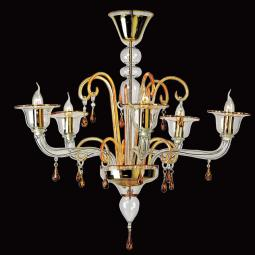 """Alcesti"" Murano glass chandelier"