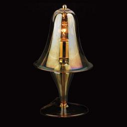 """Alcesti"" Murano glass bedside lamp - 1 light - transparent and amber"