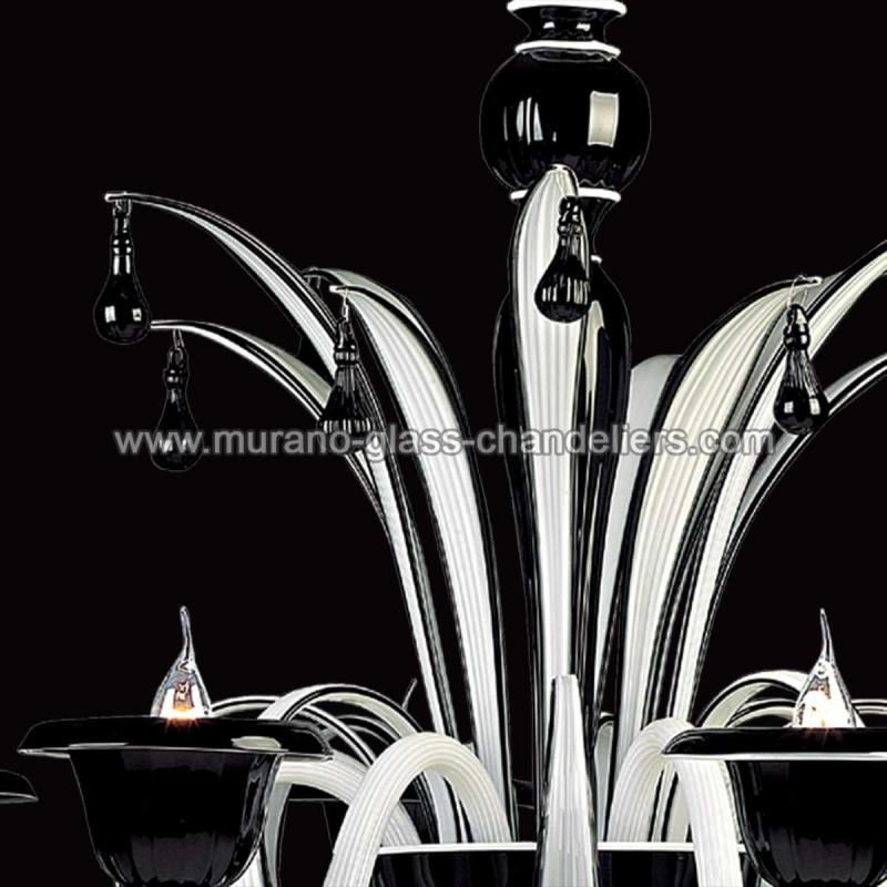 draco lustre en cristal de murano murano glass chandeliers. Black Bedroom Furniture Sets. Home Design Ideas