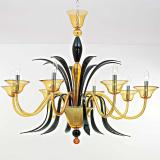 """Baccanti"" Murano glass chandelier"