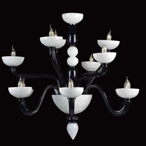 """Didone"" lustre en cristal de Murano"