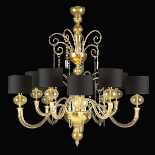 """Matilde"" Murano glas Kronleuchter - 5+5 flammig - gold"