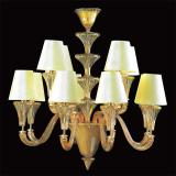 """Meridiana"" Murano glass chandelier - 8+4 lights - amber"