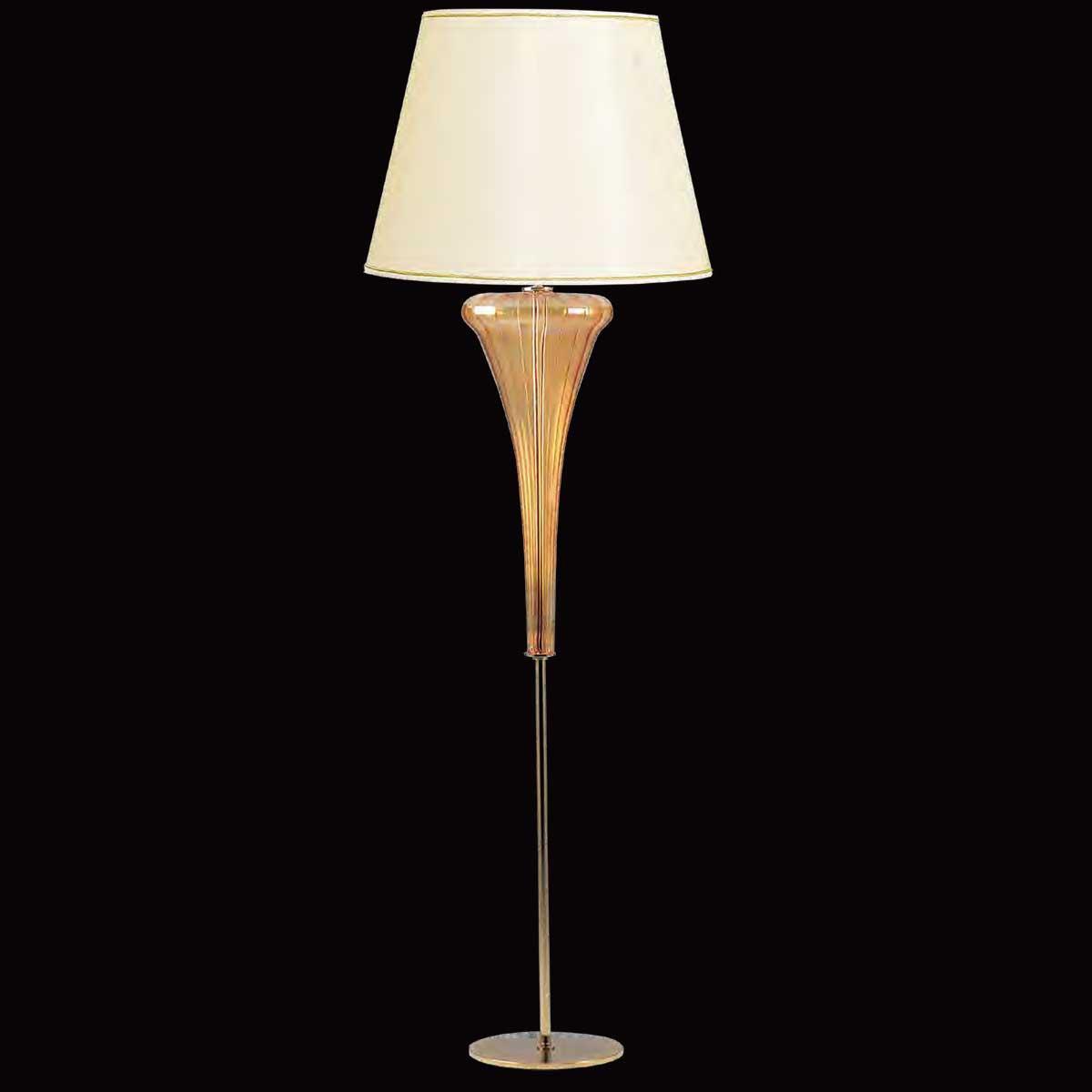 """Meridiana"" lampara de pie de Murano - 1 luce - ámbar"