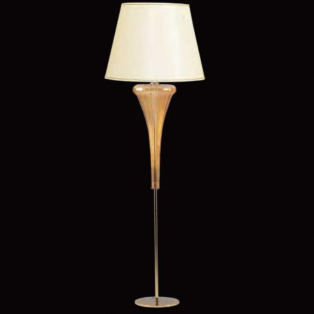 """Meridiana"" Murano glass floor lamp - 1 light - amber"