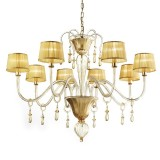 Venier 8 lights Murano chandelier - entirely gold color