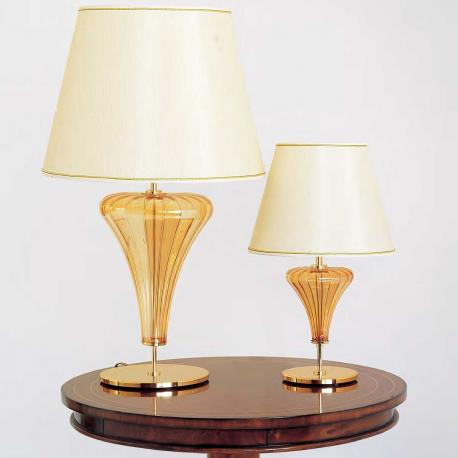 """Meridiana"" Murano glass table lamp - 1 light - amber"