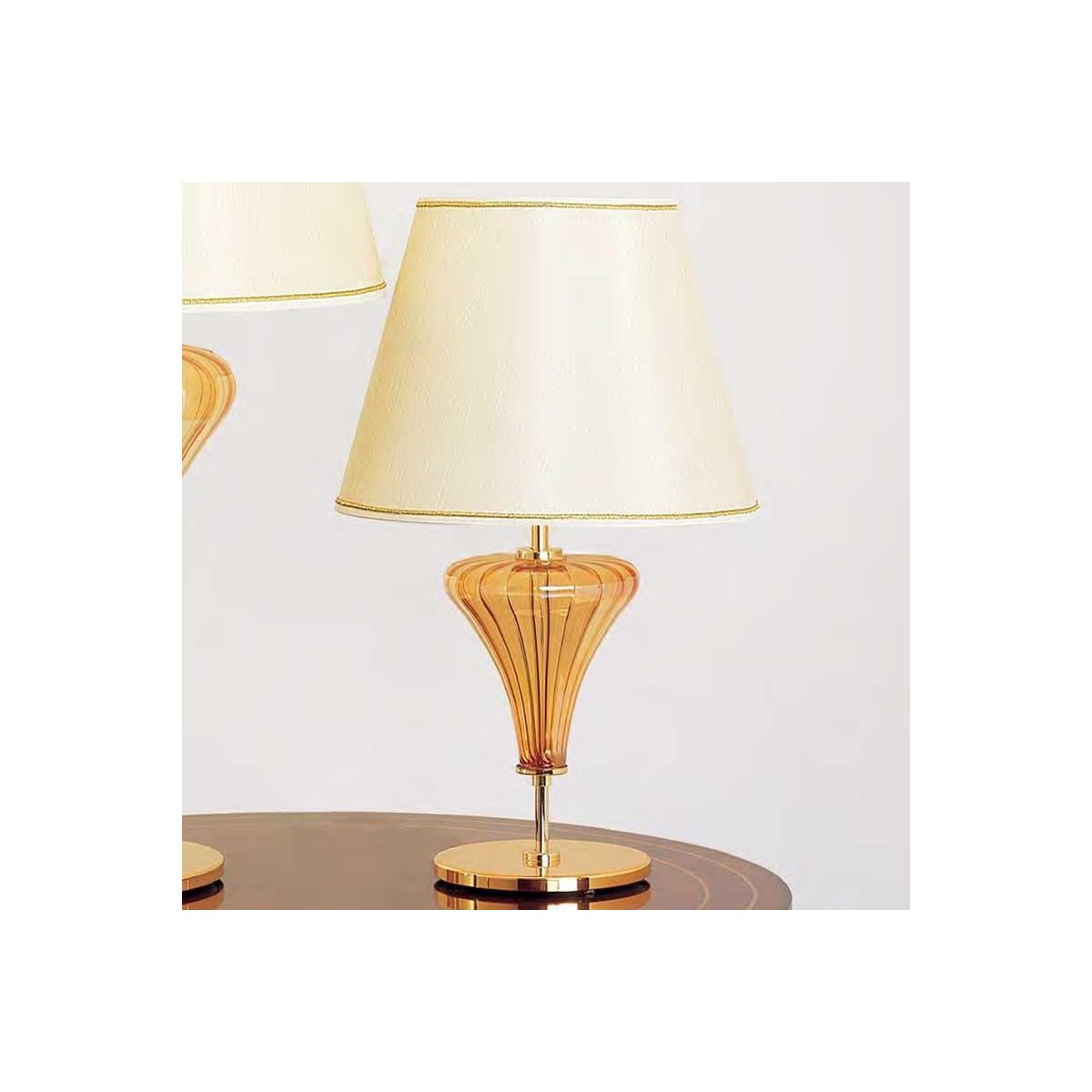 """Meridiana"" Murano glass bedside lamp - 1 light - amber"