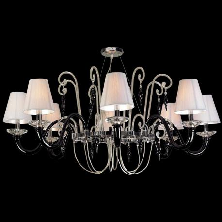 """Elisabetta"" Murano glass chandelier - 8 lights - black"