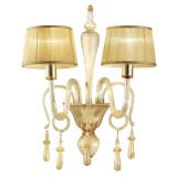Venier 2 lights Murano sconce - entirely gold color