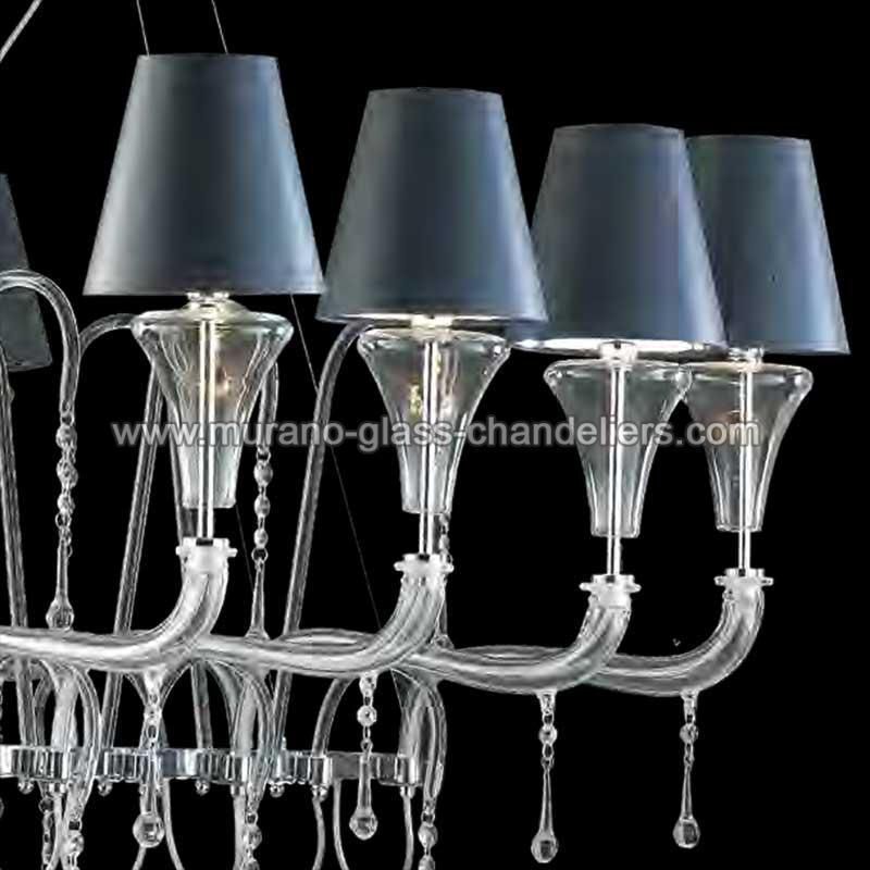 giuditta lustre en cristal de murano murano glass. Black Bedroom Furniture Sets. Home Design Ideas