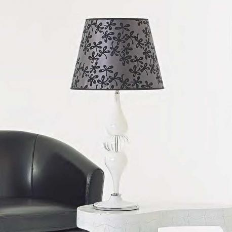 """Marzia"" Murano glass table lamp - 1 light - white"