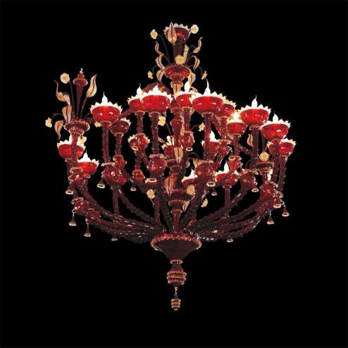 """""""Cleope"""" lustre en cristal de Murano"""
