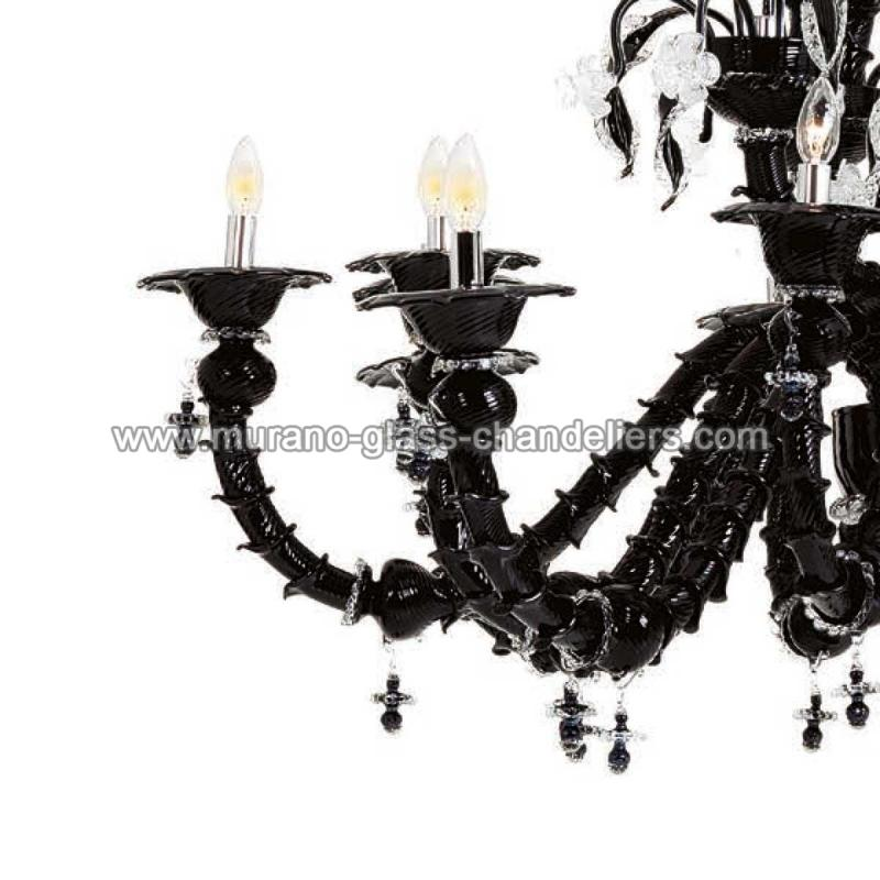 odino lustre en cristal de murano murano glass chandeliers. Black Bedroom Furniture Sets. Home Design Ideas
