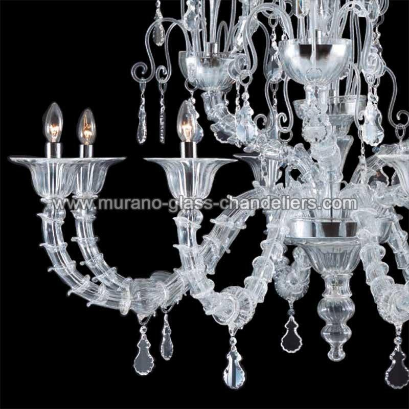 irene lustre en cristal de murano murano glass chandeliers. Black Bedroom Furniture Sets. Home Design Ideas