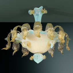 """Vivaldi"" Murano glass ceiling light"