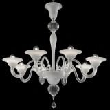 Doge 6 lights Murano chandelier - entirely gold color