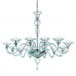 Doge 12 lumieres Murano Lustre - couleur transparent