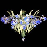"""Iris Blu"" Murano glass ceiling light - 12 lights - multicolor"