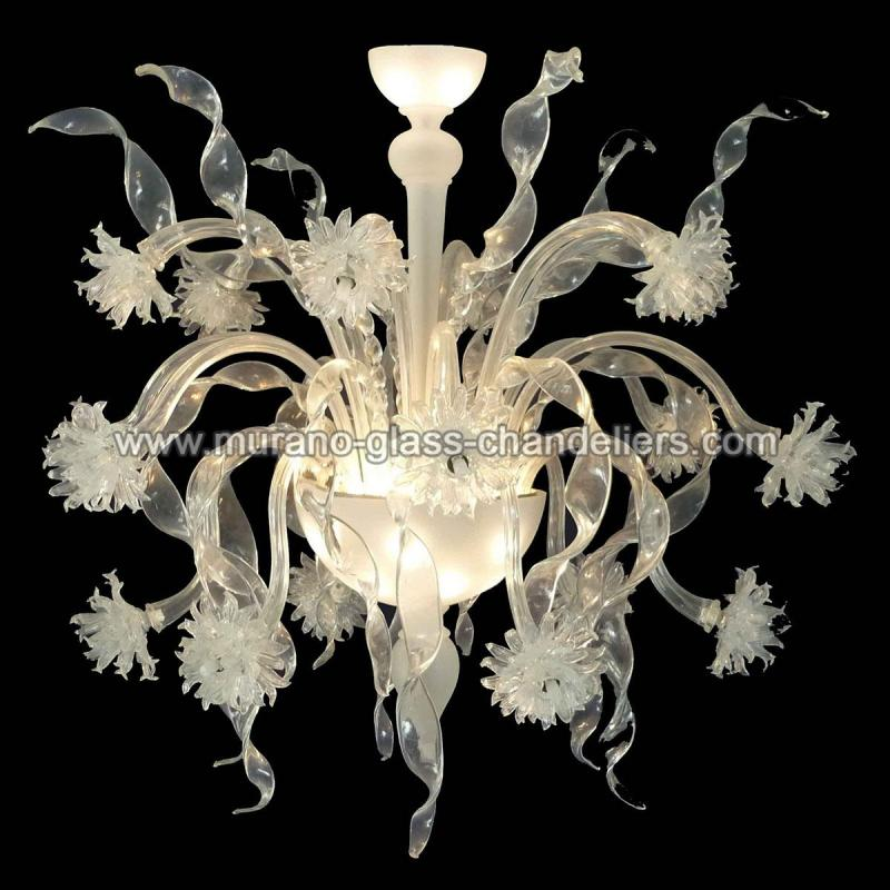 nastri lustre en cristal de murano murano glass chandeliers. Black Bedroom Furniture Sets. Home Design Ideas