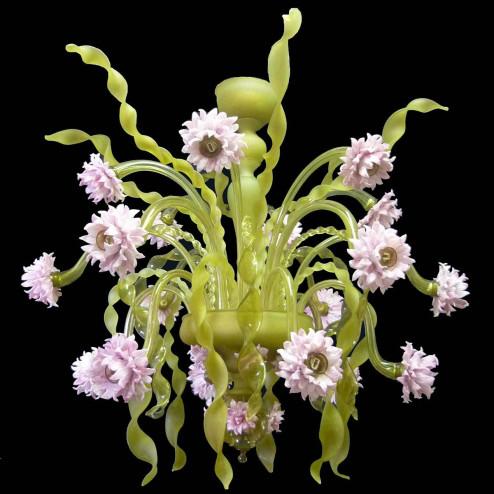 """""""Nastri Verdi"""" Murano glass chandelier"""