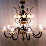 """Piramide"" Murano glass chandelier"