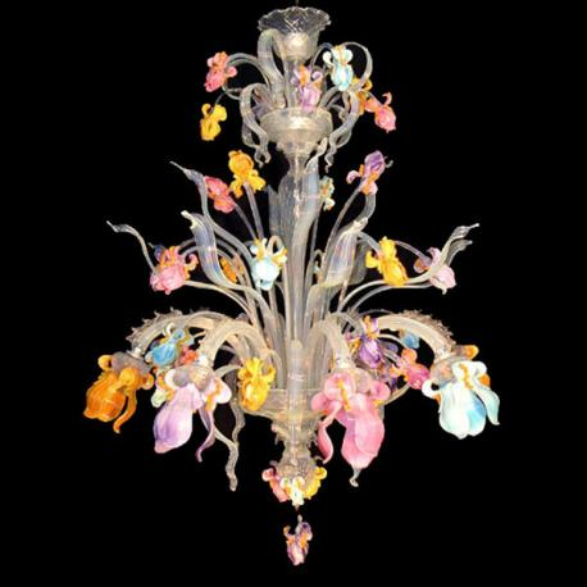 """Letizia"" lustre en cristal de Murano - 8 lumières - multicolor"