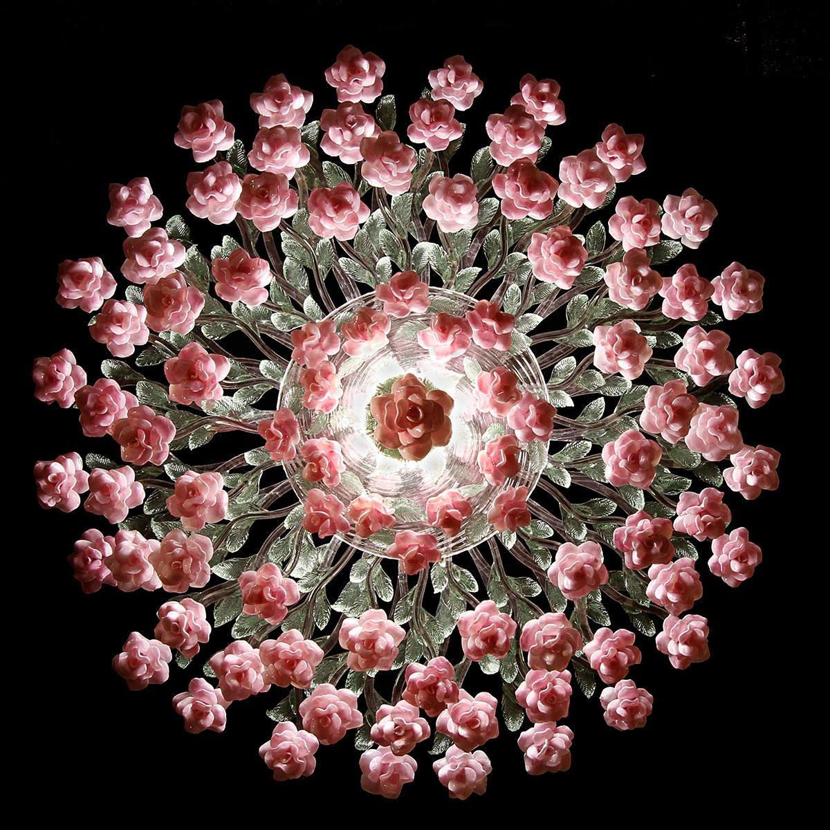 """""""Rosamunda"""" lampara de techo de Murano - 7 luces - multicolor"""