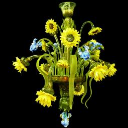 """Bouquet"" Murano glass chandelier"