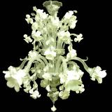 """Biancaspina"" Murano glass chandelier"