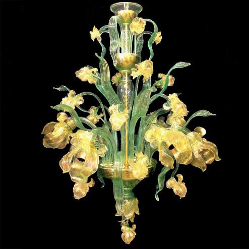 """""""Fiore d'acqua"""" lampara de araña de Murano"""