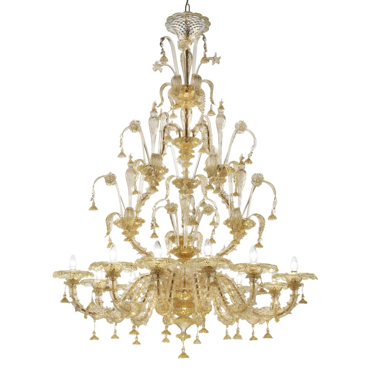 Magnifico 12 lights Murano chandelier