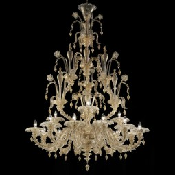 Magnifico 2 tier 12+3 lights Murano chandelier