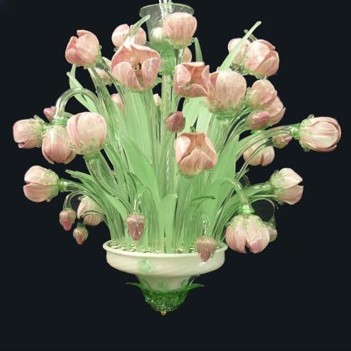 """Tulipani"" Murano glas Kronleuchter"