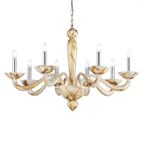 Semplice 8 lights Murano chandelier - bamboo color