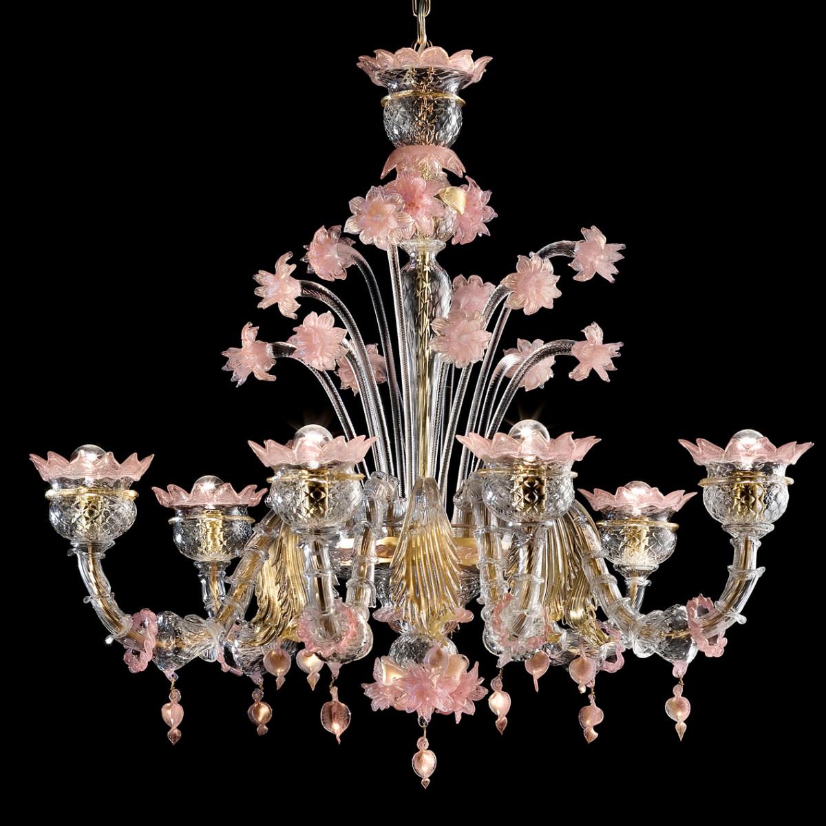 Sissi 6 Leuchten aus Murano-Kronleuchter