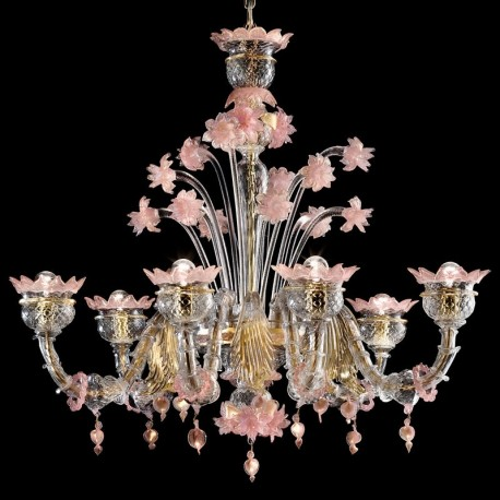 Sissi 6 lights Murano chandelier