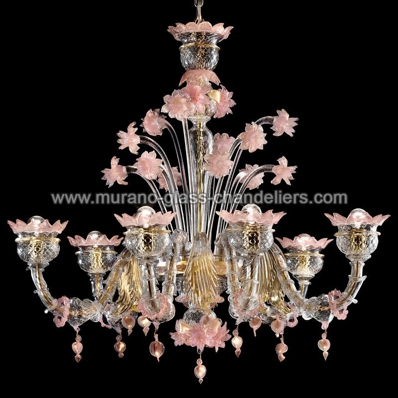 sissi lustre en cristal de murano murano glass chandeliers. Black Bedroom Furniture Sets. Home Design Ideas