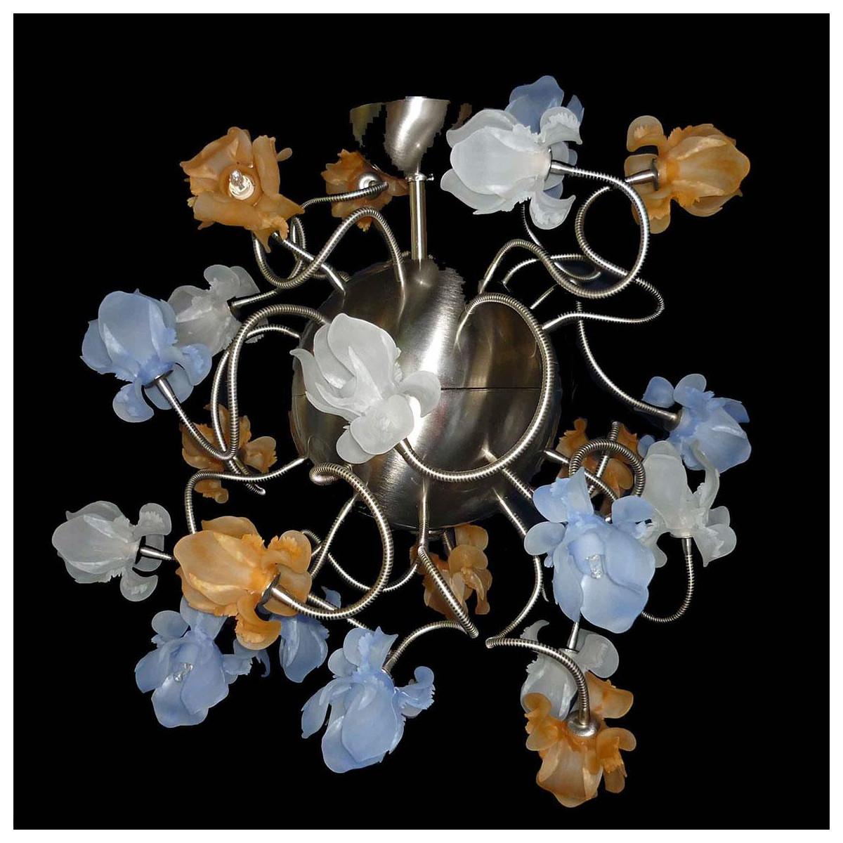 """""""Fiori di Seta"""" lampara de araña de Murano - 16 luces"""