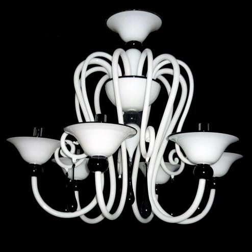 """""""Serpico"""" lampara de araña de Murano"""