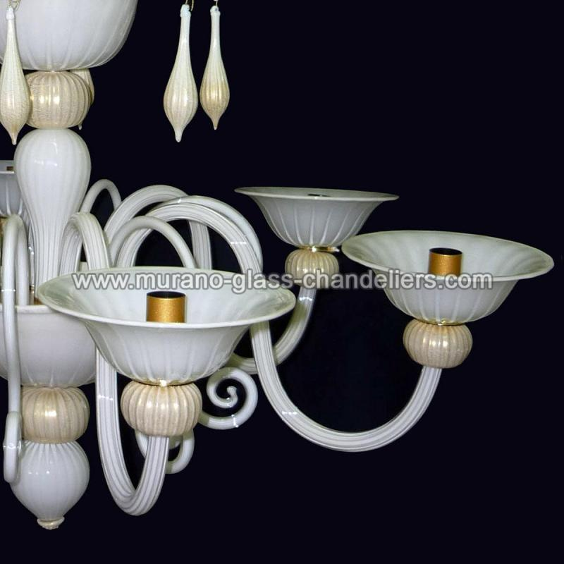 riccio bianco lustre en cristal de murano murano glass chandeliers. Black Bedroom Furniture Sets. Home Design Ideas