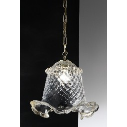 Canal Grande suspension en verre Murano - couleur transparente