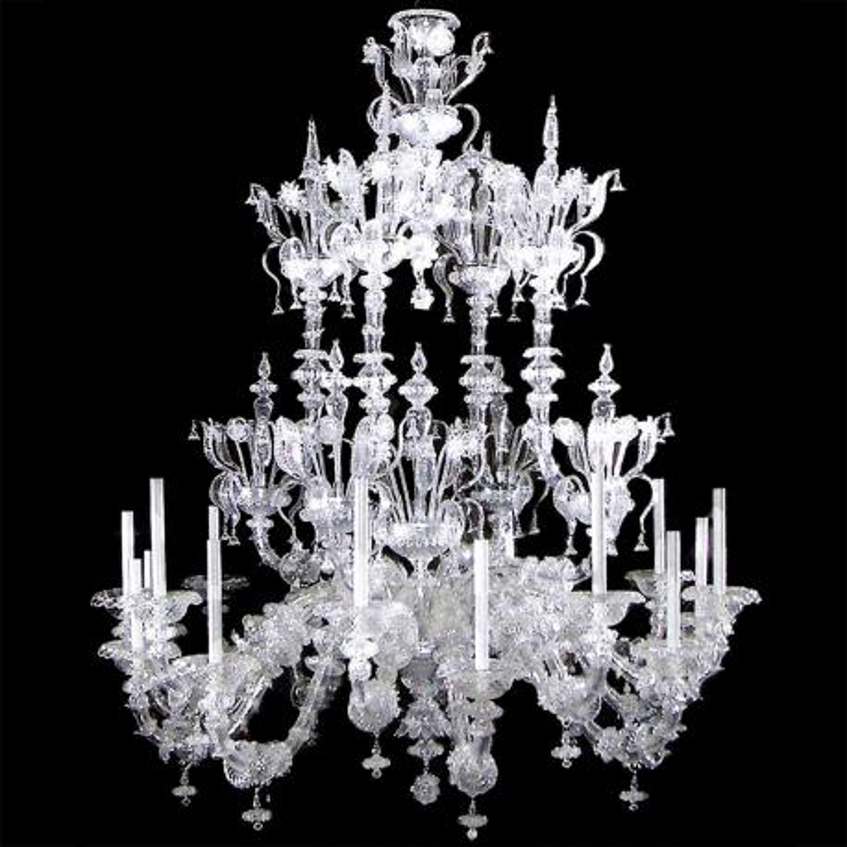 """""""Alida"""" lampara de araña de Murano - 16 luces - transparente"""