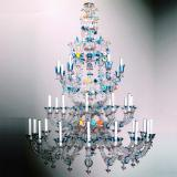 """Arcobaleno"" Murano glass chandelier - 36 lights - multicolor"