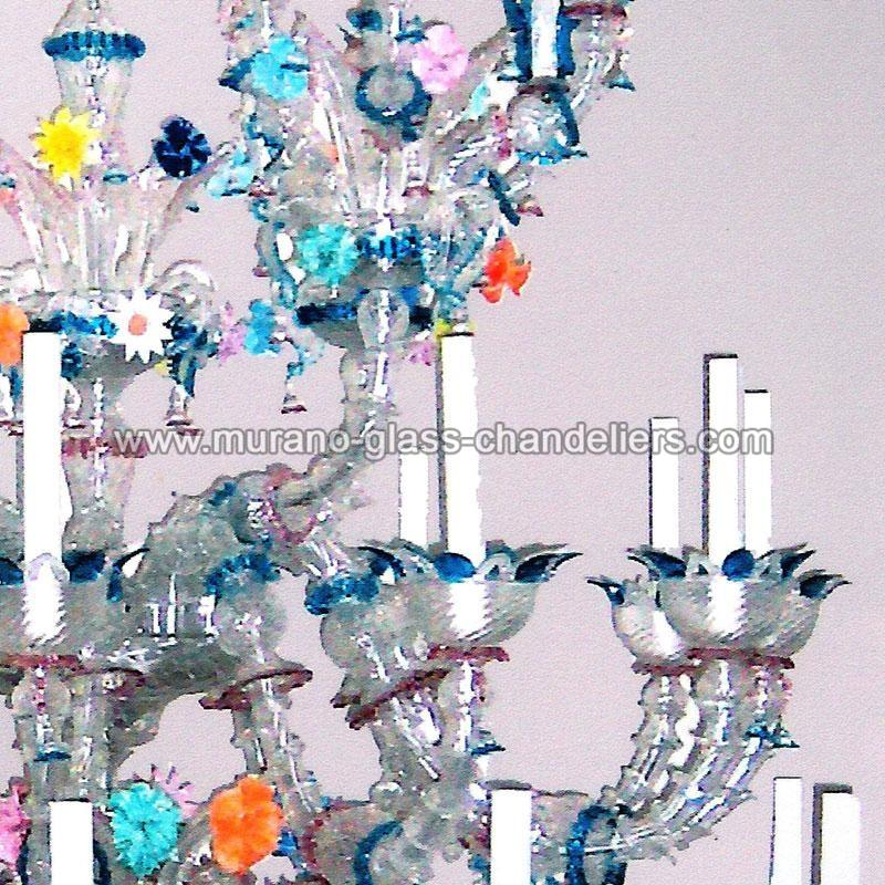 arcobaleno lustre en cristal de murano murano glass chandeliers. Black Bedroom Furniture Sets. Home Design Ideas
