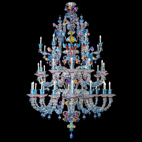 """Abbondanza"" Murano glass chandelier - 36 lights - multicolor"
