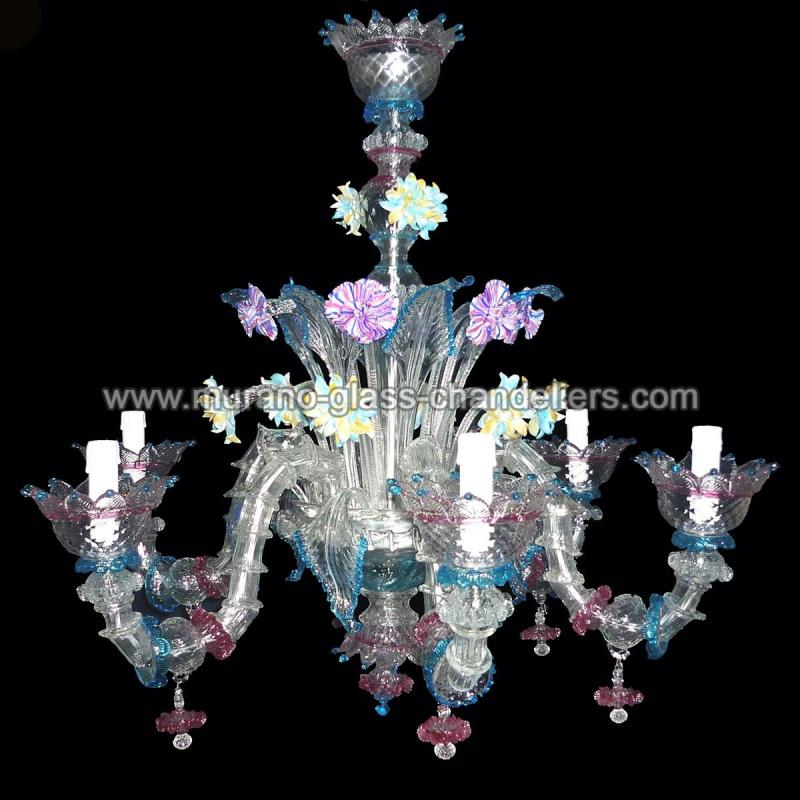 berenice lustre en cristal de murano murano glass. Black Bedroom Furniture Sets. Home Design Ideas